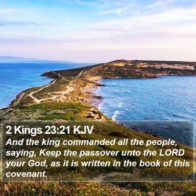 2 Kings 23:21 KJV Bible Verse Image