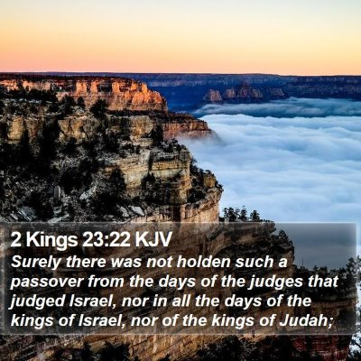 2 Kings 23:22 KJV Bible Verse Image