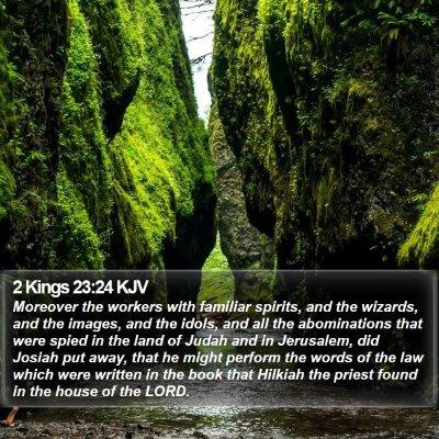 2 Kings 23:24 KJV Bible Verse Image