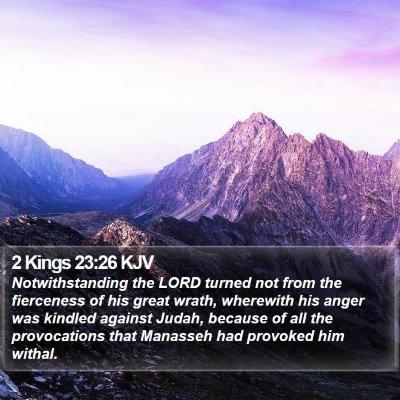 2 Kings 23:26 KJV Bible Verse Image