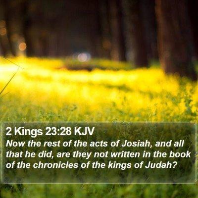 2 Kings 23:28 KJV Bible Verse Image