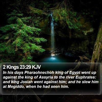 2 Kings 23:29 KJV Bible Verse Image
