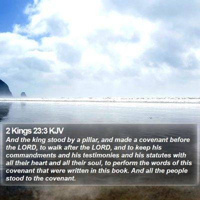 2 Kings 23:3 KJV Bible Verse Image