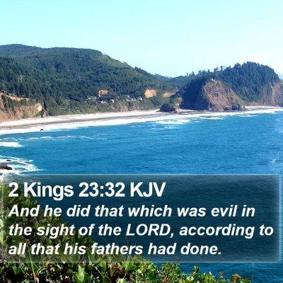 2 Kings 23:32 KJV Bible Verse Image