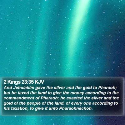 2 Kings 23:35 KJV Bible Verse Image