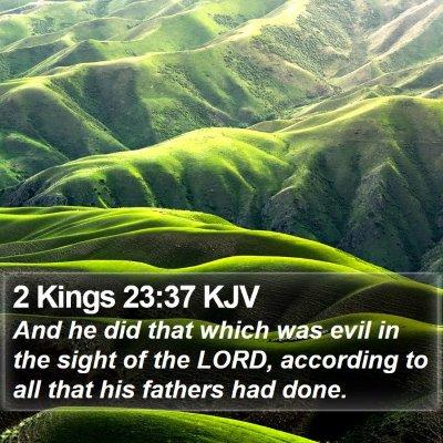 2 Kings 23:37 KJV Bible Verse Image