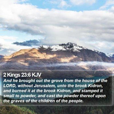 2 Kings 23:6 KJV Bible Verse Image