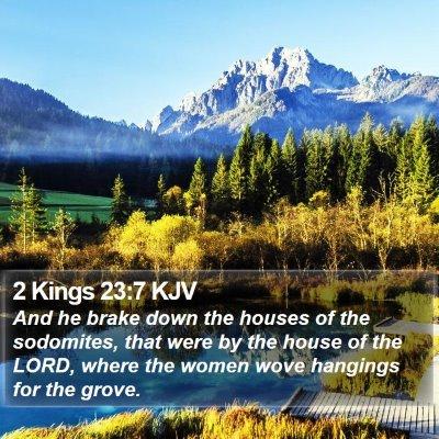 2 Kings 23:7 KJV Bible Verse Image