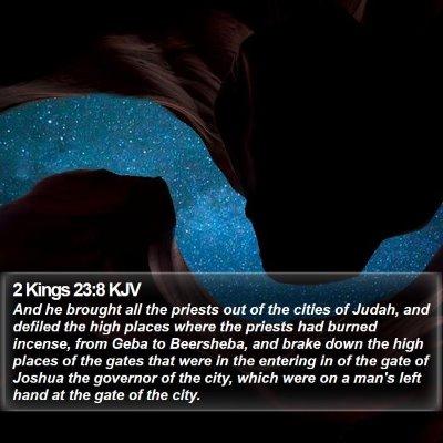 2 Kings 23:8 KJV Bible Verse Image