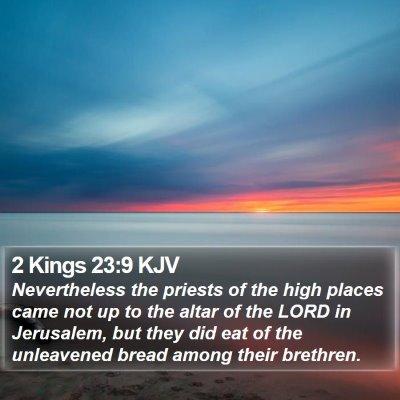 2 Kings 23:9 KJV Bible Verse Image
