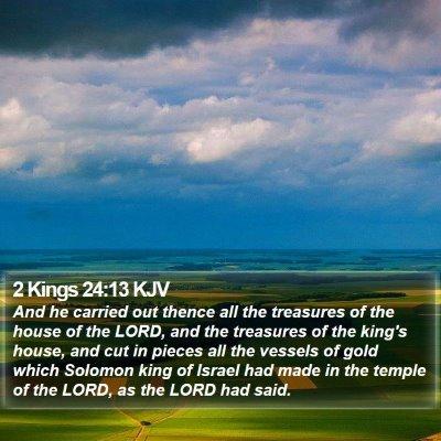 2 Kings 24:13 KJV Bible Verse Image