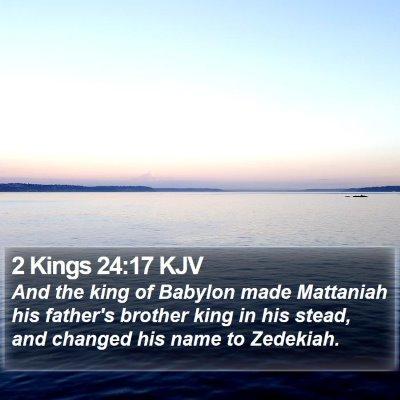 2 Kings 24:17 KJV Bible Verse Image