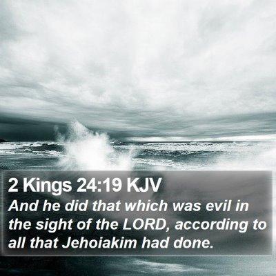 2 Kings 24:19 KJV Bible Verse Image
