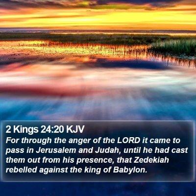 2 Kings 24:20 KJV Bible Verse Image
