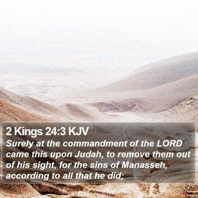 2 Kings 24:3 KJV Bible Verse Image