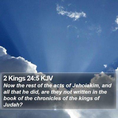 2 Kings 24:5 KJV Bible Verse Image