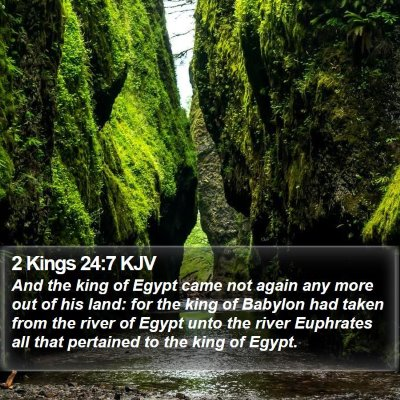 2 Kings 24:7 KJV Bible Verse Image