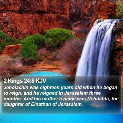 2 Kings 24:8 KJV Bible Verse Image