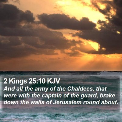 2 Kings 25:10 KJV Bible Verse Image