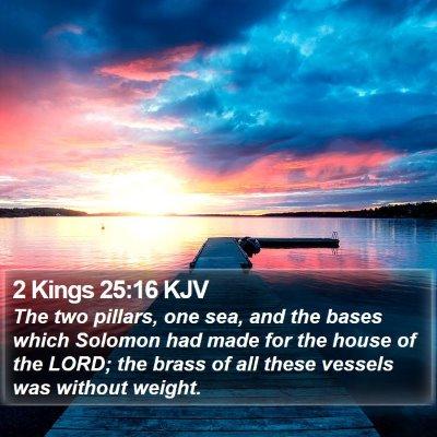 2 Kings 25:16 KJV Bible Verse Image