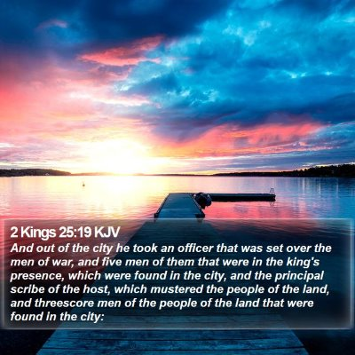 2 Kings 25:19 KJV Bible Verse Image