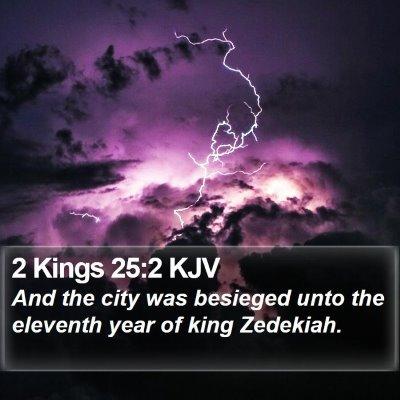 2 Kings 25:2 KJV Bible Verse Image