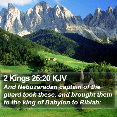 2 Kings 25:20 KJV Bible Verse Image