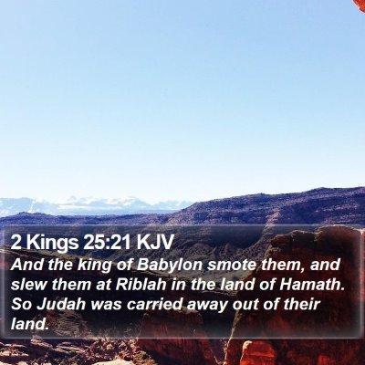 2 Kings 25:21 KJV Bible Verse Image