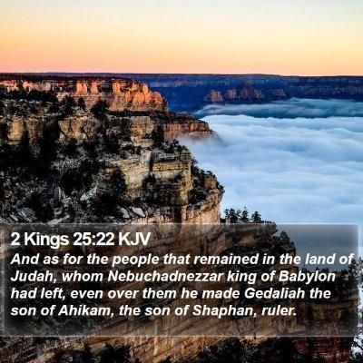 2 Kings 25:22 KJV Bible Verse Image