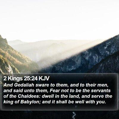 2 Kings 25:24 KJV Bible Verse Image