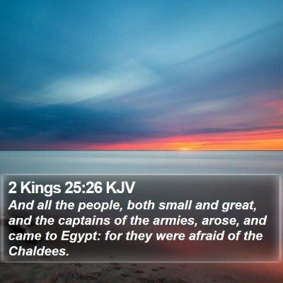 2 Kings 25:26 KJV Bible Verse Image