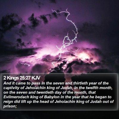 2 Kings 25:27 KJV Bible Verse Image
