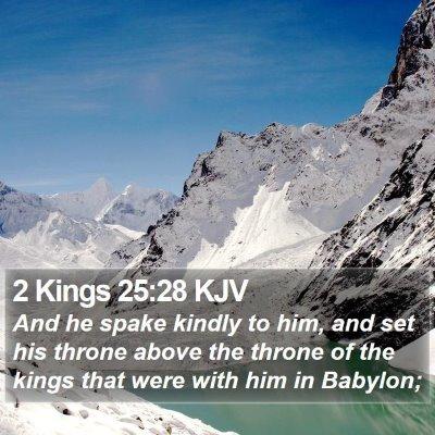 2 Kings 25:28 KJV Bible Verse Image