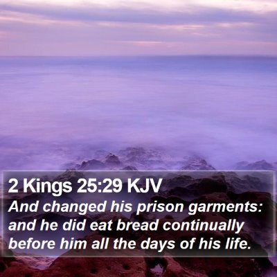 2 Kings 25:29 KJV Bible Verse Image