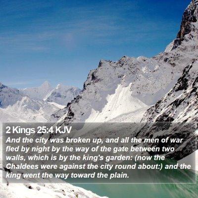 2 Kings 25:4 KJV Bible Verse Image