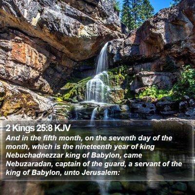 2 Kings 25:8 KJV Bible Verse Image
