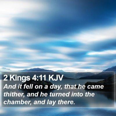 2 Kings 4:11 KJV Bible Verse Image