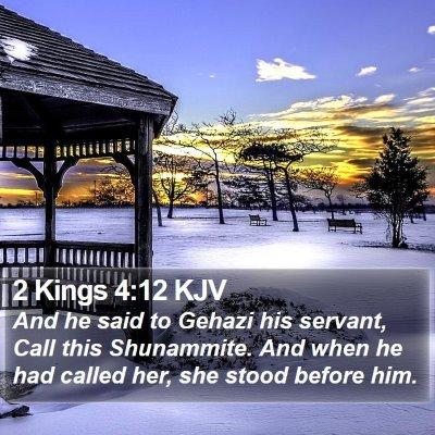 2 Kings 4:12 KJV Bible Verse Image