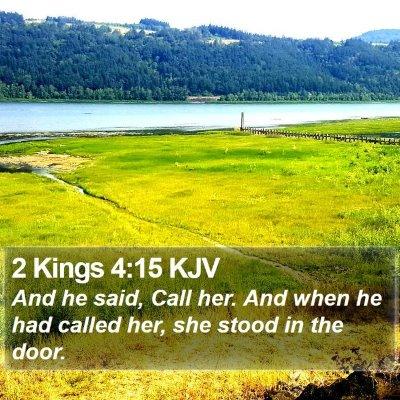 2 Kings 4:15 KJV Bible Verse Image