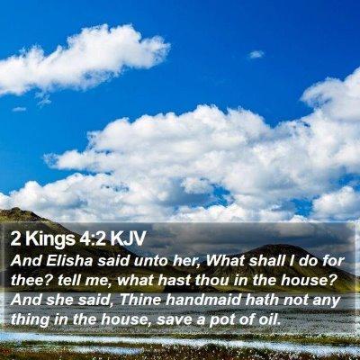 2 Kings 4:2 KJV Bible Verse Image