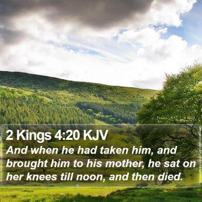 2 Kings 4:20 KJV Bible Verse Image