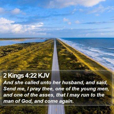 2 Kings 4:22 KJV Bible Verse Image