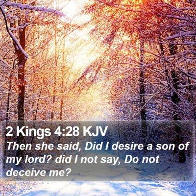 2 Kings 4:28 KJV Bible Verse Image