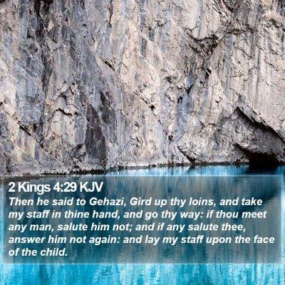 2 Kings 4:29 KJV Bible Verse Image