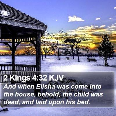 2 Kings 4:32 KJV Bible Verse Image