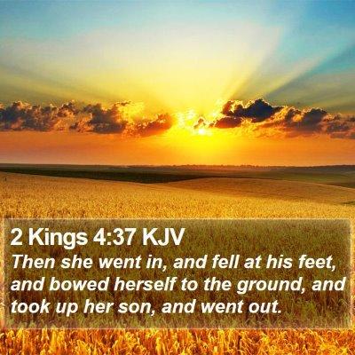2 Kings 4:37 KJV Bible Verse Image