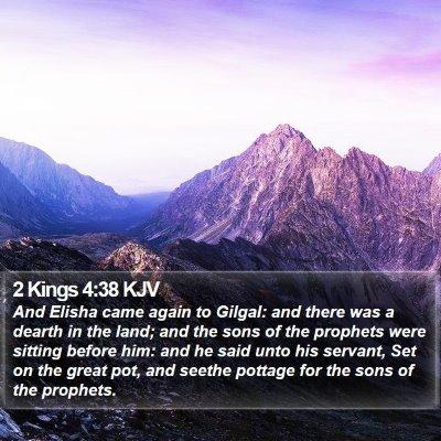 2 Kings 4:38 KJV Bible Verse Image