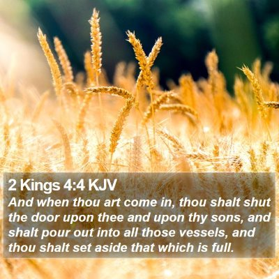 2 Kings 4:4 KJV Bible Verse Image
