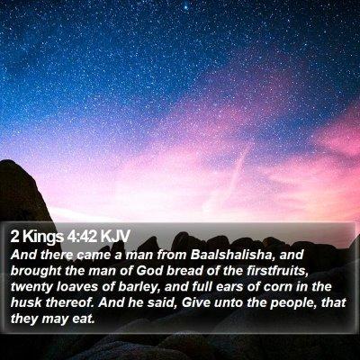 2 Kings 4:42 KJV Bible Verse Image
