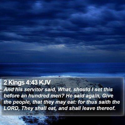 2 Kings 4:43 KJV Bible Verse Image